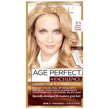 Loreal Hair Color Chart Prices Loreal Paris Age Perfect Permanent Hair Color Medium Natural Blonde