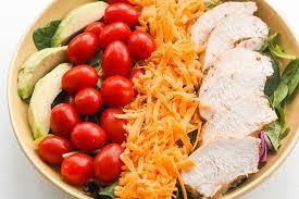 garden salad with chicken. Exellent With Grilled Chicken Garden Salad For With N