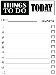 Things Daily To Do List Template House Chore Lists Writinginc Co