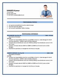 Format Sample Of Resume 13 Kuramo News