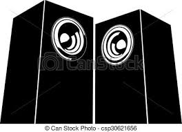 sound system clipart. vector - sound-system speaker illustration sound system clipart c
