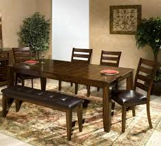 dining room table with bench and chairs enjoyable piece dark mango pub set od dining room set darvin kitchen
