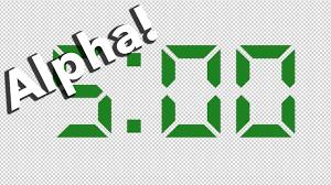 Alpha 5 Minute Digital Countdown Clean Green