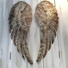 angel wings wall art large metal angel wings wall decor distressed by angel wings wall art