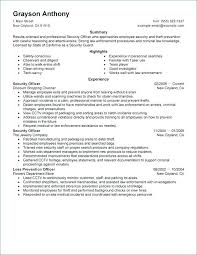 ♑ 40 Security Guard Resume Summary Interesting Security Officer Resume