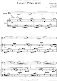 Op 17 No 2 Romance Without Words Cello Sheet Music Notes By