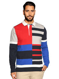tommy hilfigerknitted polo navy red