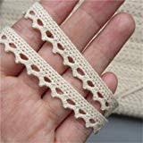 10 <b>Yards</b> Cotton Lace Edge Trim Ribbon 1.5 cm <b>Width</b> Vintage Style ...