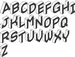 3d letter font