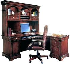 l shaped wood desk. L Shaped Computer Desk Hutch Wood White Wooden With U E