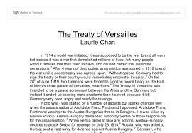 treaty versailles essay international baccalaureate history  document image preview