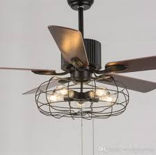 the best of modern ceiling fans with lights in loft vintage fan light e27 edison 5 bulbs pendant lamps