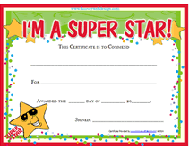 Children Certificate Template Certificate Of Achievement Template For Kids Under