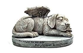 dog garden statue. Bellaa Dog Memorial Pet Statue Sleeping Angel With Wings Garden Sculpture I