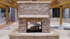 see through outdoor fireplace designs