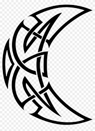 Celtic Tattoos Png Transparent Crescent Moon Tribal Tattoo Png