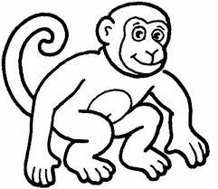Monitos Tiernos Para Colorear Dibujos Para Colorear De Animales Monos Imagesacolorier