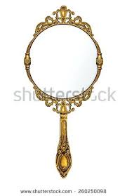 ornate hand mirror drawing. Ornate Hand Mirror Vintage Drawing