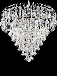 demelza chrome 15 light crystal shower chandelier light