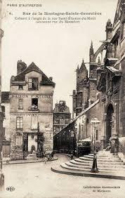 rue de la montagne sainte genevive paris 5me le haut de la rue chapelle de la sorbonne chappelle de la