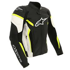 alpinestars gp plus r v2 airflow leather jacket black white yellow