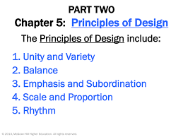 Unity And Variety Principles Of Design Chapter 5 Principles Of Design