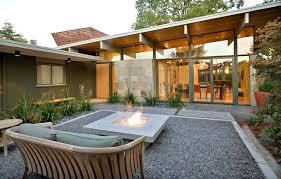 Mid Century Patio Ideas Walkway Designs Patio With Floor To Ceiling