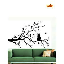 whole cat on long tree branch diy vinyl wall sticker decals wall art mural home decor window kitchen wallpaper wall stickers uk wall stickers vinyl from