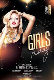Club Flyer Templates Free Girls Friday Free Club Flyer Template Freebie Freepsdflyer