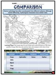 Norse Gods And Goddesses Facts Worksheets The Mythology