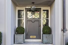 single front door with window sidelites