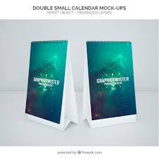 Calendar Free Downloads Double Small Calendar Mockup Psd File Free Download