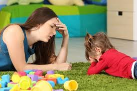 Image result for woman tired of stubborn baby