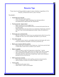 Tips For Resumes Resume Templates