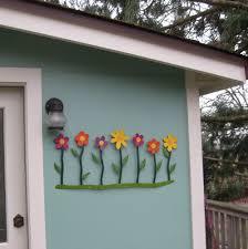 custom made metal flower art wall hanging decor outdoor wall sculpture