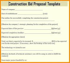 Invitation To Bid Template Free Construction Proposal Sample Letter ...