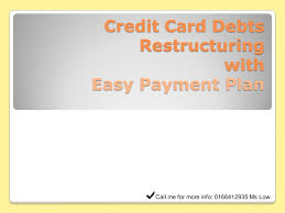 Credit Card Payment Plan Easy Payment Plan For Credit Card Holders