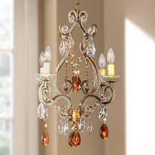outdoor cool mini plug in chandelier 17 leila amber gold finish swag com lighting drop gorgeous