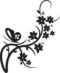Flower And Butterfly Stencil Designs Butterfly Wedding Custom Clip Art Flower Border Clipart