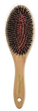 GranNaturals Boar + Nylon Bristle <b>Oval</b> Hair Brush with a <b>Wooden</b> ...