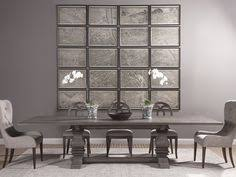 axiom axiom rectangular dining set in grigio dining room table sets bedroom furniture curio cabinets and solid wood furniture model home gallery