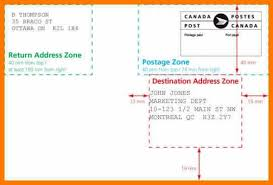 Postcard How To Address Montreal Address Format Envelope Canada Post Machineable Mail