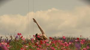 Image result for yoga in field of flowers