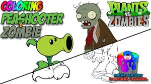 Plants Vs Zombies 2 Coloring Pages Peashooters Printable Coloring