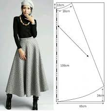 Long Skirt Patterns Classy Midi Length Classic Skirt Pattern Falda Larga Clásica Con Patrón