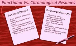 functional or chronological resumes