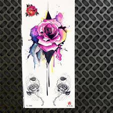 сексуальные временные татуировки акварельный рисунок розы геометрические