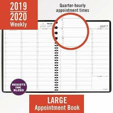 2020 Weekly Appointment Book At A Glance 2019 2020 Academic Year Weekly Planner