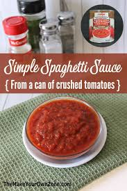 simple spaghetti sauce from a can of