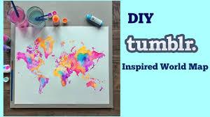 diy tumblr inspired world map youtube
